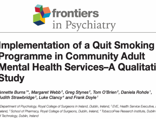 Implementation of a Quit Smoking Programme in Community Adult Mental Health Services–A Qualitative Study