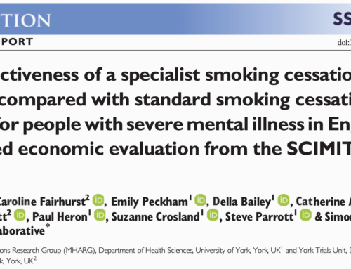 Cost‐effectiveness of a specialist smoking cessation package compared with standard smoking cessation services for people with severe mental illness