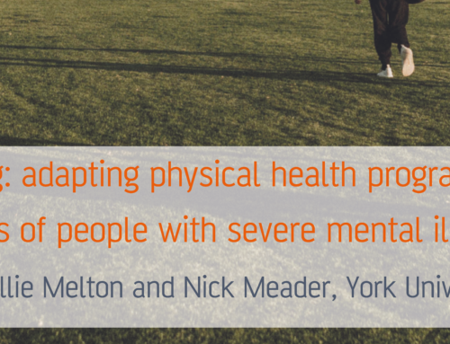 Healthy living: adapting physical health programmes to the needs of people with severe mental illness