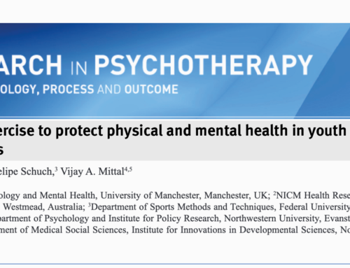 Using exercise to protect physical and mental health in youth at risk for psychosis