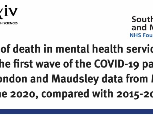 Causes of death in mental health service users during the first wave of the COVID-19 pandemic: South London and Maudsley data from March to June 2020, compared with 2015-2019