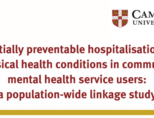 Potentially preventable hospitalisations for physical health conditions in community mental health service users: a population-wide linkage study